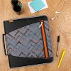 """2"""" Ring Zipper Binder with File Folders Gray Maze - Five Star - image 2 of 4"""