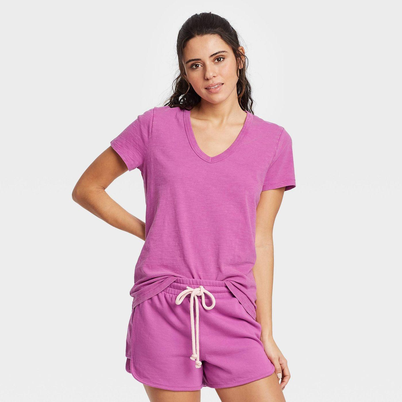 Women's Short Sleeve V-Neck T-Shirt - Universal Thread™ - image 1 of 8
