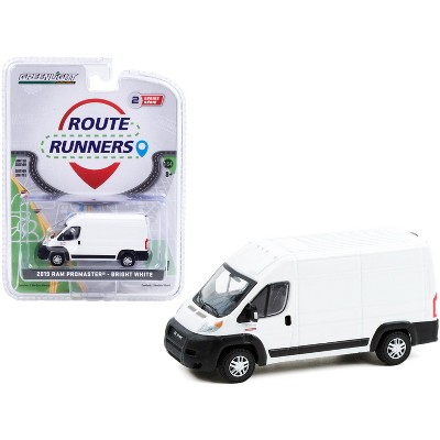 """2019 Ram ProMaster 2500 Cargo High Roof Van Bright White """"Route Runners"""" Series 2 1/64 Diecast Model by Greenlight"""