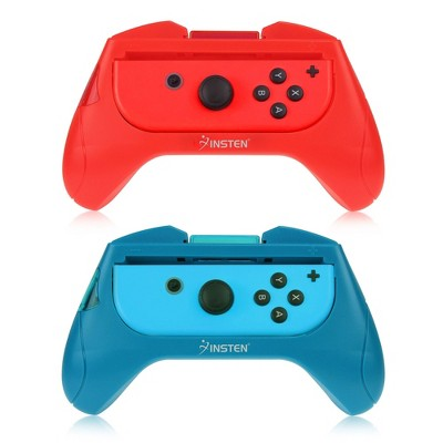 Insten Joycon Controller Grip Compatible with Nintendo Switch, Protective, 2 Pack, Red/Blue