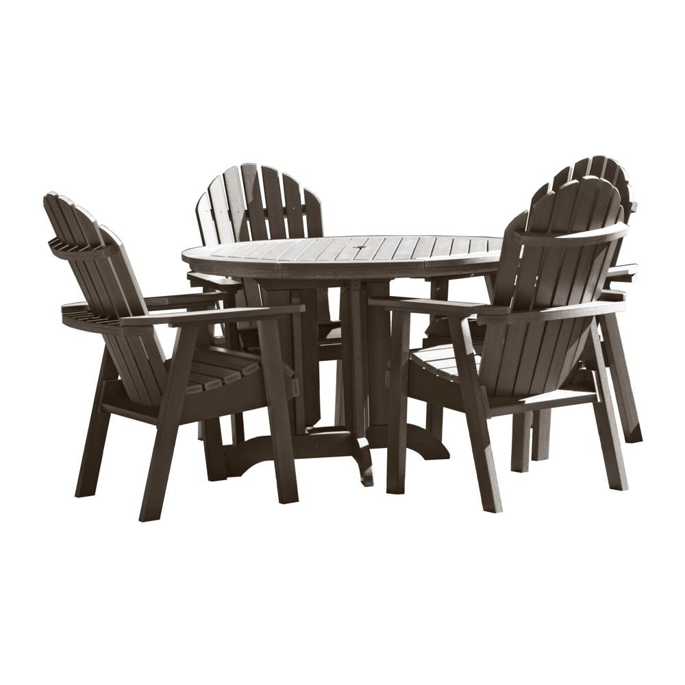 Hamilton 5pc Round Dining Set Weathered Acorn - Highwood