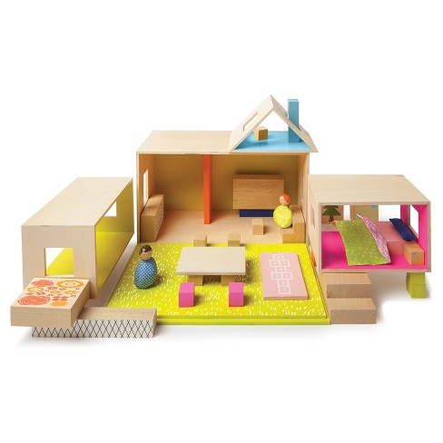 Manhattan Toy MiO Playing Eating Sleeping Working Modular Building Set Playset - image 1 of 5