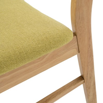 Set Of 2 Anise Dining Chair Natural Oak/Green Tea - Christopher Knight Home : Target