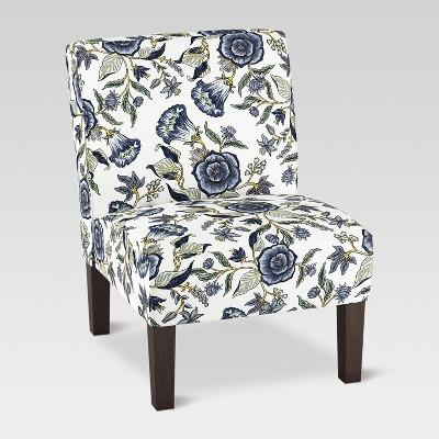 Burke Slipper Chair - Blue Floral - Threshold™