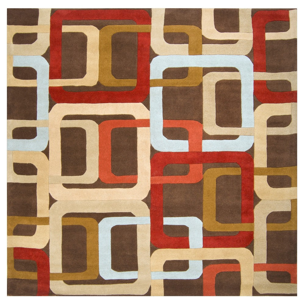 Gärsnäs Area Rug - Rust (Red), Camel - (8' Square) - Surya