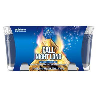 Glade Jar Candle Fall Night Long - 6.8oz/2ct