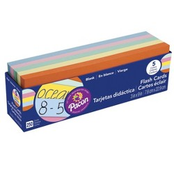 Pacon Blank Flash Cards, Assorted Colors, 3 x 9 Inches, pk of 250