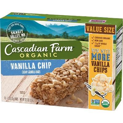 Cascadian Farm Organic Vanilla Chip Granola Bars - 10ct