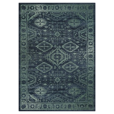 5'X7' Geometric Design Tufted Area Rug Navy - Maples