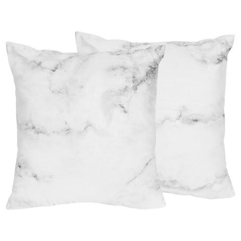 Black Amp White Marble Throw Pillow Sweet Jojo Designs