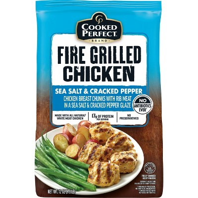 Cooked Perfect Sea Salt & Cracked Pepper Fire Grilled Chicken - Frozen - 12oz