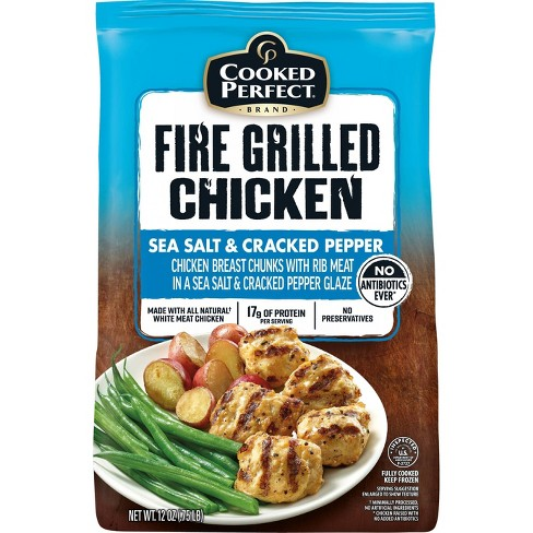 Cooked Perfect Sea Salt & Cracked Pepper Fire Grilled Chicken - Frozen - 12oz - image 1 of 4