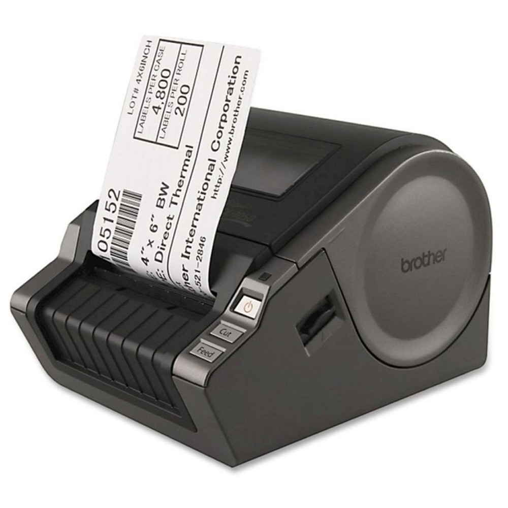 Acer Label Printer - Black (QL1050) The Brother Label Printer in Black (QL1050) has a long-life auto cutter for home or office use. The label maker is compatible with PCs and Macs.