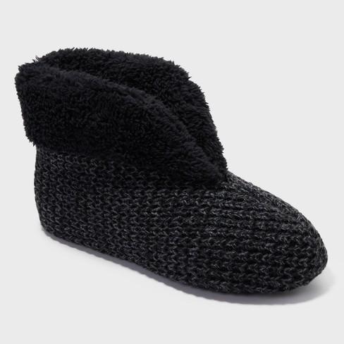 3619f784ac9d Women s Dearfoams Textured Knit Bootie Slippers   Target