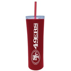 NFL San Francisco 49ers Skinny Tumbler with Straw