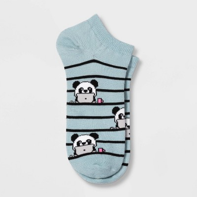 Women's Panda Low Cut Socks - Xhilaration™ Blue 4-10