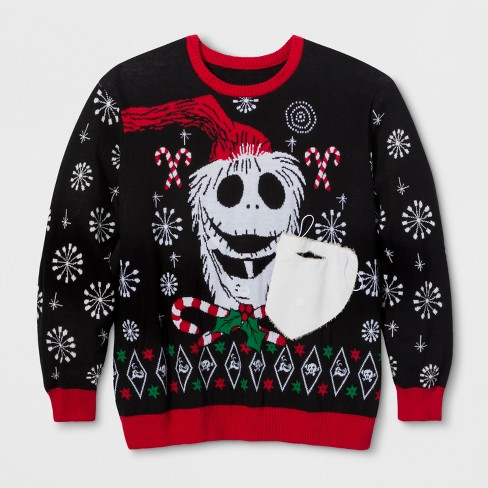 Mens Big Tall Ugly Holiday Nightmare Before Christmas Sweater