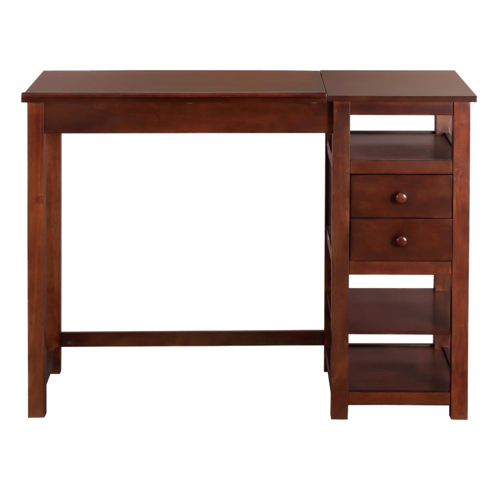Drafting and Craft Counter Height Desk Coffee (Brown) - Dorel Living