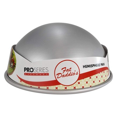 Fat Daddio's PHA-10 10 x 4.75 Inch Size Anodized Aluminum Hemisphere Baking Pan for Half Sphere Cakes