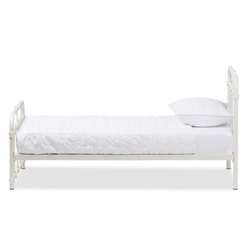 64217d395d70 Mandy Vintage Industrial Finished Metal Platform Bed - Twin - White - Baxton  Studio   Target