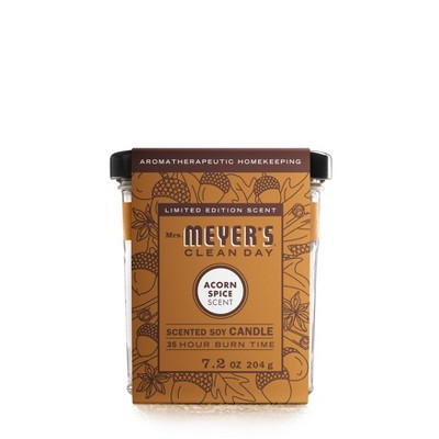 Mrs. Meyer's Clean Day Fall Large Soy Candle - Acorn Spice - 7.2oz