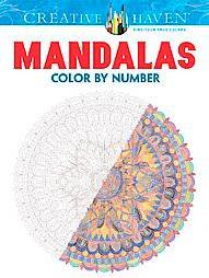 Mandalas Adult Coloring Book Color By Number Target