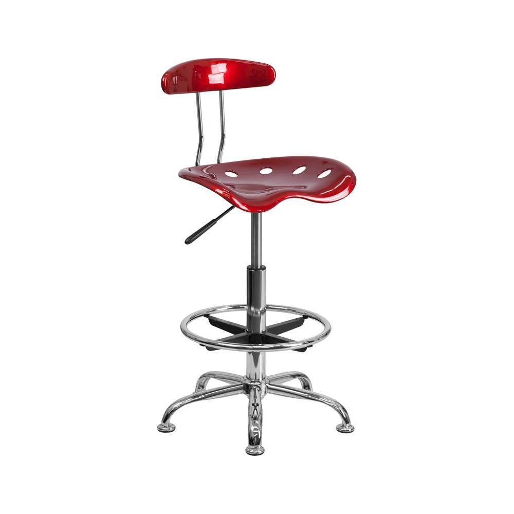 Image of Tractor Seat Drafting Stool Red - Belnick