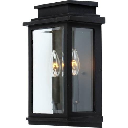 "Artcraft Lighting AC8391BK Fremont 2 Light 7"" Wide Outdoor Wall Lantern - image 1 of 1"