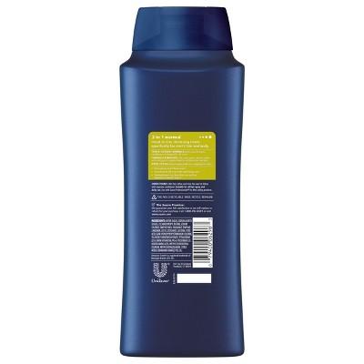 Suave Men 3 in 1 Citrus Rush Shampoo + Conditioner and Body Wash - 28 fl oz