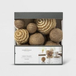 8.9oz Twine Balls Vase Filler Brown - Threshold™