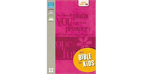 Holy Bible : New International Version, Hot Pink, Italian Duo-Tone Bible for Kids (Paperback) - image 1 of 1