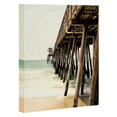 Bree Madden Down The Pier Art Canvas 16  x 20  - Deny Designs