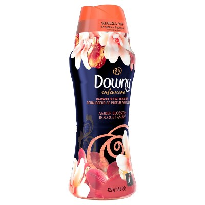 Downy Infusions In-Wash Amber Blossom Scented Booster Beads - 14.8oz
