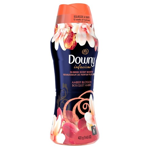 Downy Infusions In-Wash Amber Blossom Scented Booster Beads - 14.8oz - image 1 of 3