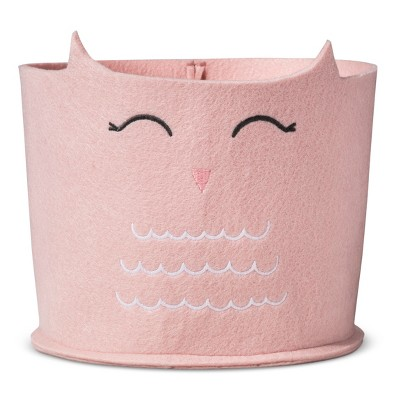 Felt Storage Bin Small Owl - Cloud Island™ - Pink