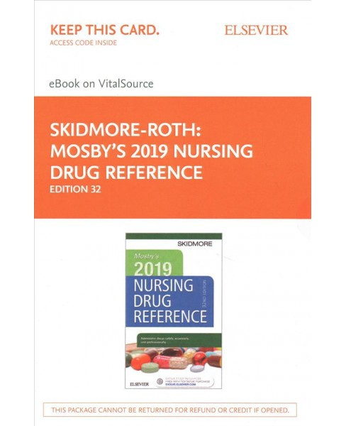Mosby's 2019 Nursing Drug Reference Access Card -  by Linda Skidmore-Roth (Hardcover) - image 1 of 1
