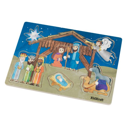 KidKraft Nativity Peg Puzzle - 6pc - image 1 of 3