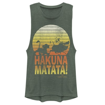 Junior's Lion King Hakuna Matata Profile Festival Muscle Tee