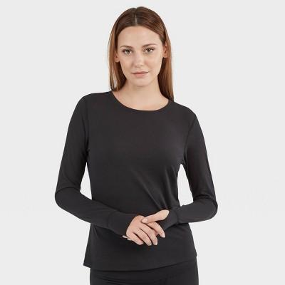 Wander by Hottotties Women's Alexa Wool Blend Thermal Top - Black