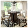Bistro 5 Piece Counter Height Cappuccino Dining Set - Tufted Platinum Sage - CorLiving - image 4 of 4