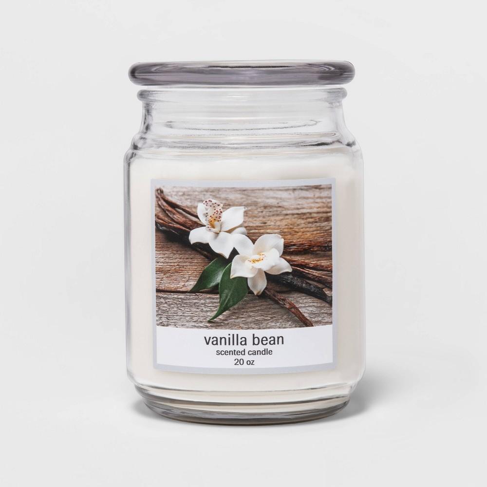 20oz Lidded Glass Jar Vanilla Bean Candle