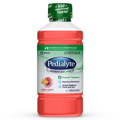 Pedialyte AdvancedCare Electrolyte Solution - Cherry Punch - 33.8 fl oz