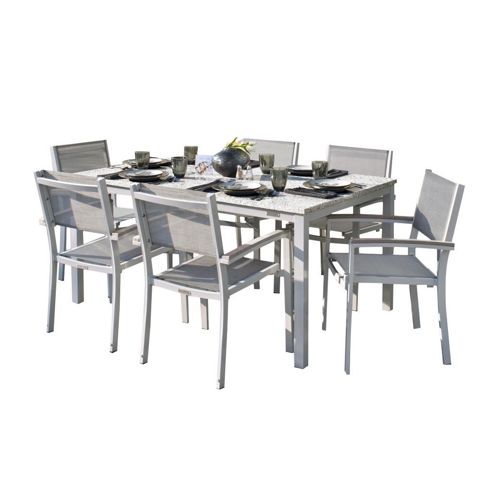 Travira 7pc Patio Dining Set with 63