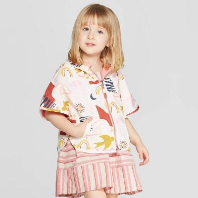 112f01aba Genuine Kids® from OshKosh Toddler Girls' Reversible Poncho Sweater - Cream  12M