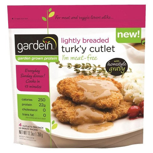 Gardein Lightly Breaded Turk'y Frozen Cutlets - 4ct - image 1 of 2