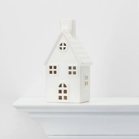 Large Ceramic House Decorative Figurine White - Wondershop™ - image 1 of 3