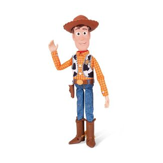 Disney Pixar Toy Story 4 Sheriff Woody with Interactive Drop-Down Action