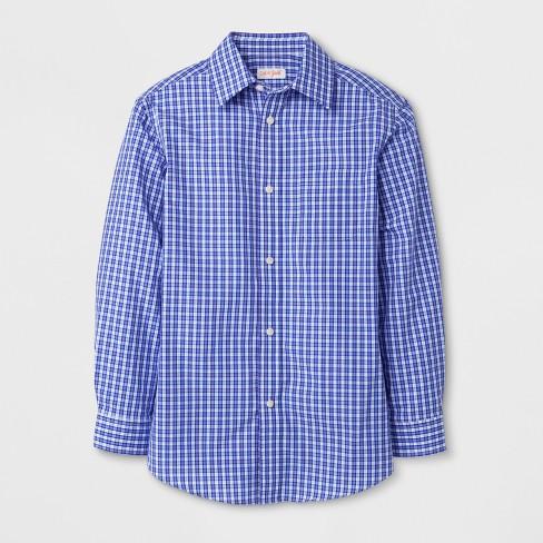 0c55b132a1dd1 Boys  Checked Long Sleeve Button-Down Shirt - Cat   Jack™ Purple Navy White