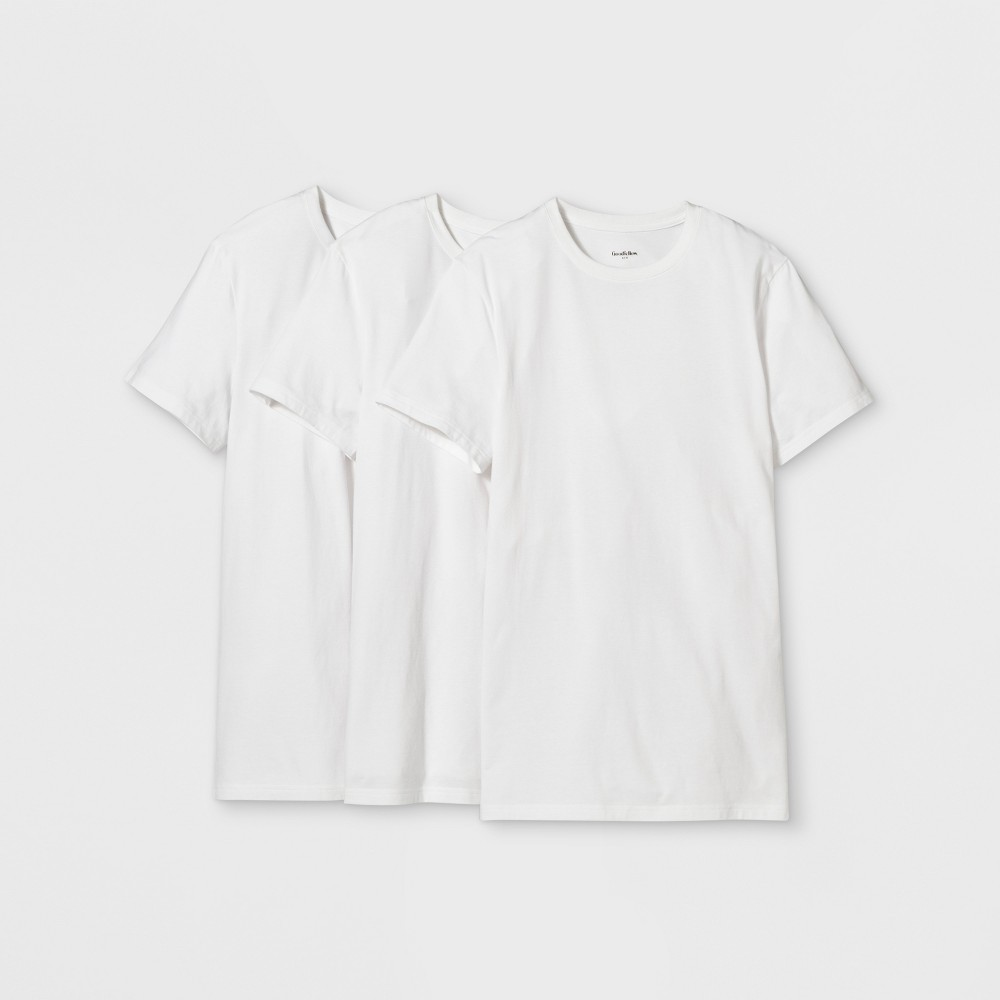 Men's Short Sleeve Premium Crew Undershirt - Goodfellow & Co White L was $18.99 now $9.99 (47.0% off)