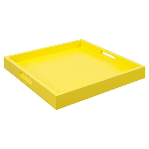 Palm Beach Tray - Yellow - Convenience Concepts - image 1 of 3